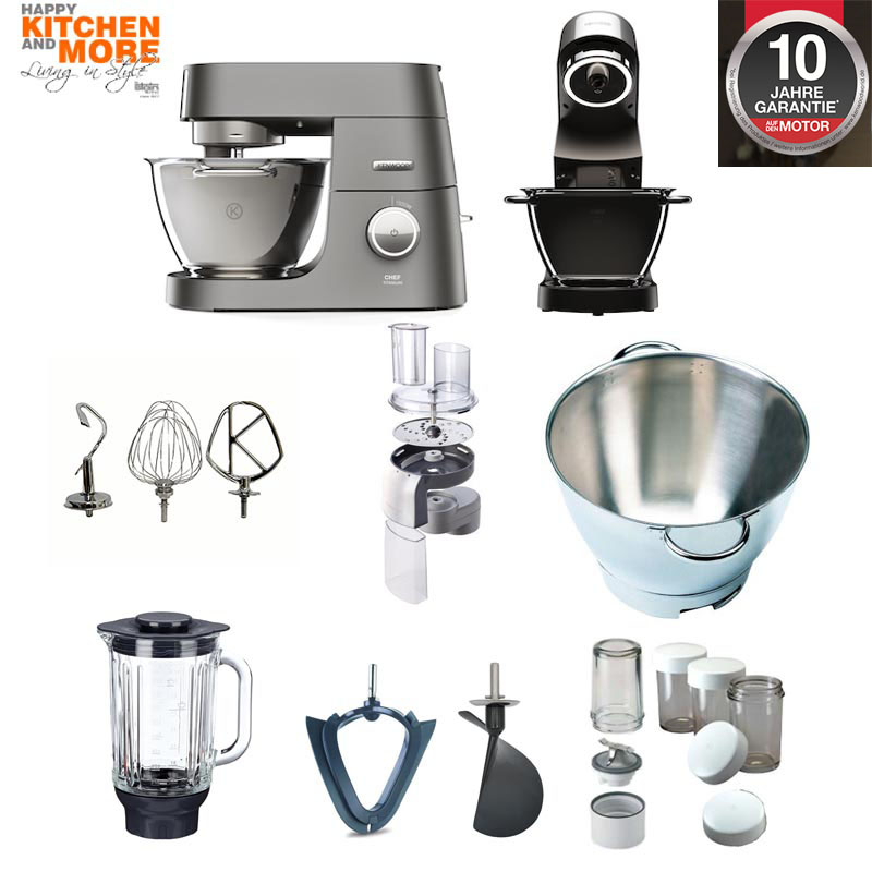 kenwood chef titanium kvc 70 mit super paket 7320s und. Black Bedroom Furniture Sets. Home Design Ideas