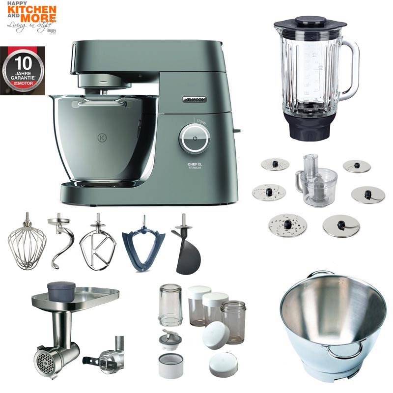 kenwood chef xl titanium kvl 80 mega paket 8320s. Black Bedroom Furniture Sets. Home Design Ideas