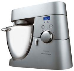 Kenwood Titanium Major Timer KMM 075 Küchenmaschine mit Stein-Getreidemühle