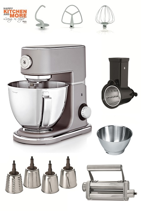 Der Knaller: WMF Profi Plus Küchenmaschine inkl. Super-Paket in Steel Grey